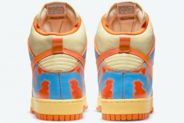 Nike Dunk High 1985 Orange Acid Wash Sneakers DD9404-800-3
