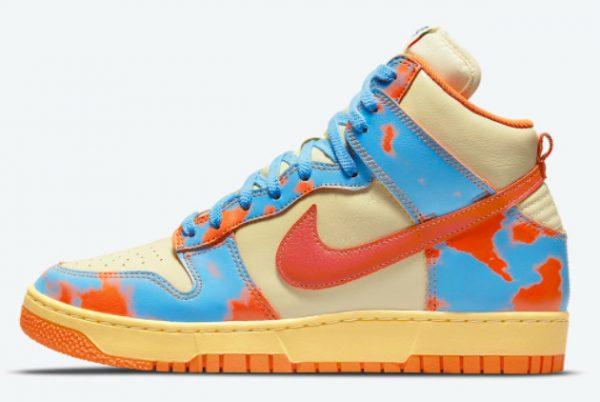 Nike Dunk High 1985 Orange Acid Wash Sneakers DD9404-800